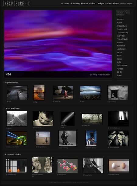 Screenshot of 1x.com
