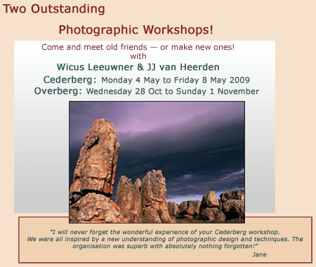 Teaser for Overberg & Cederberg workshop article