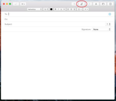 Click the Attach icon